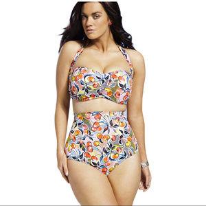 Other - Cherry Print High Waist Plus Size Swimsuit Bikini